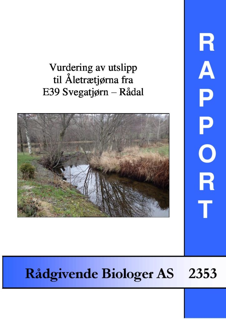 Rapport cover - rapport 2353