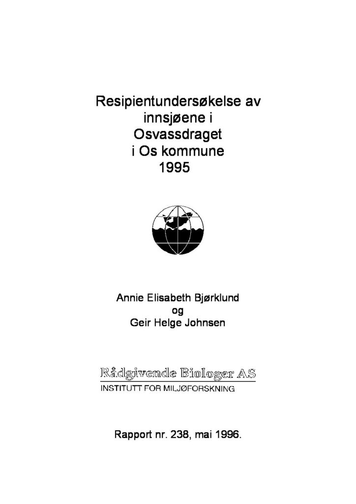 Rapport cover - rapport 238