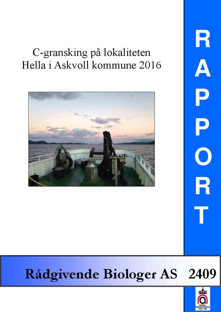 Rapport cover - rapport 2409