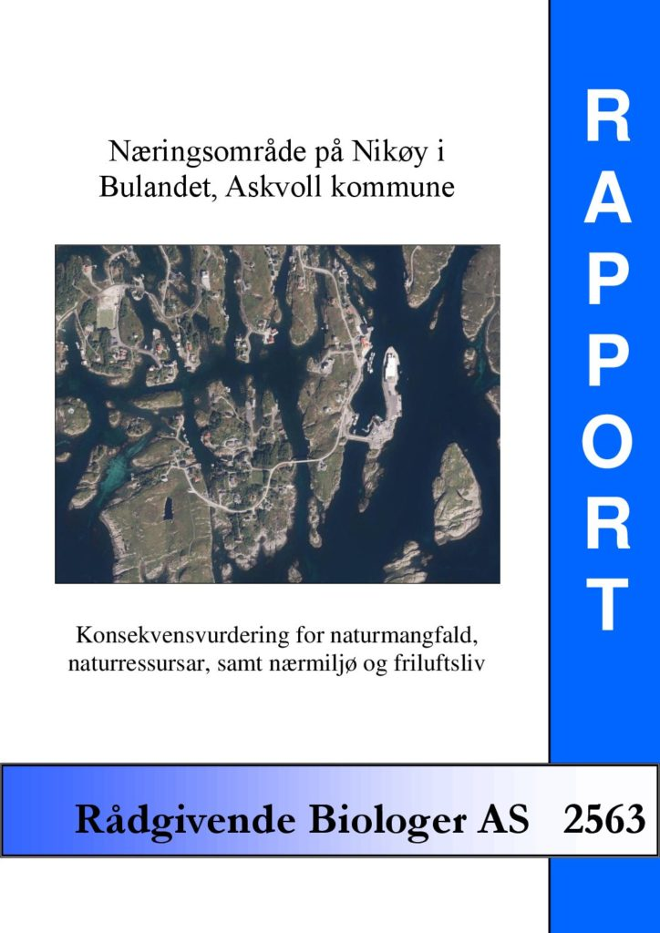 Rapport cover - rapport 2563
