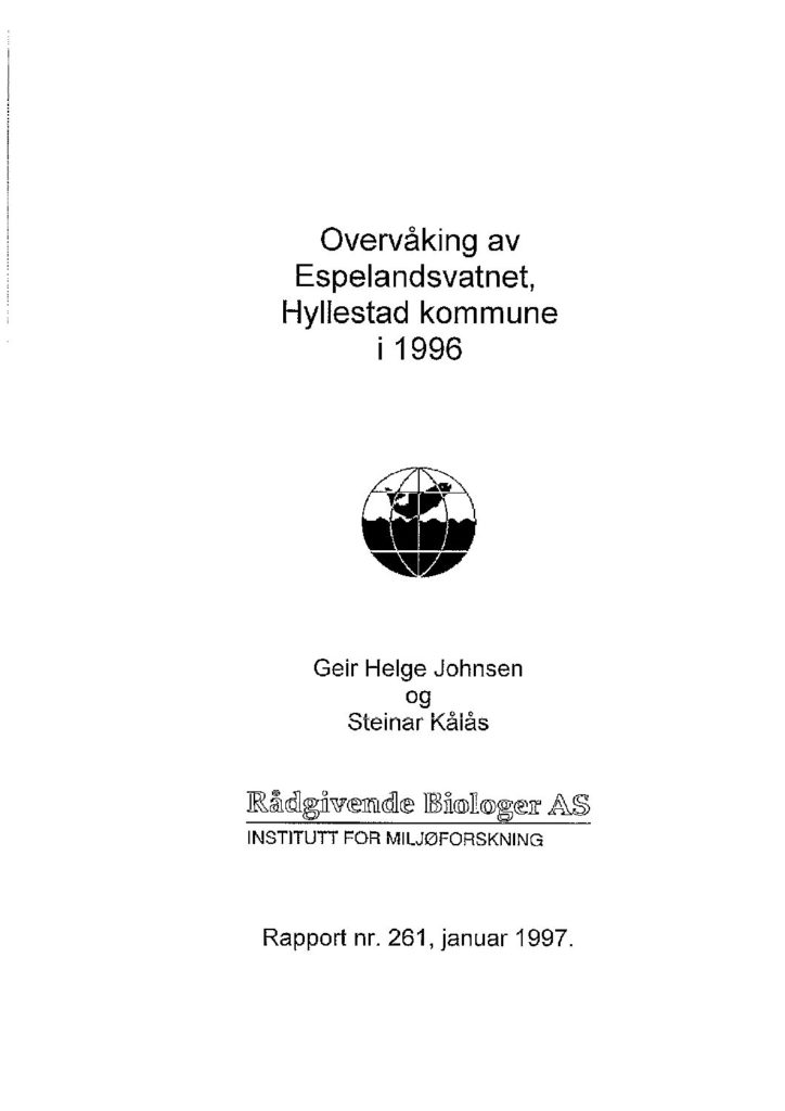 Rapport cover - rapport 261