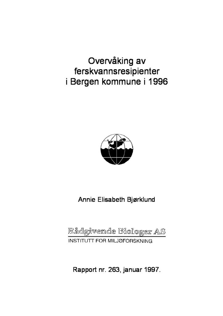 Rapport cover - rapport 263