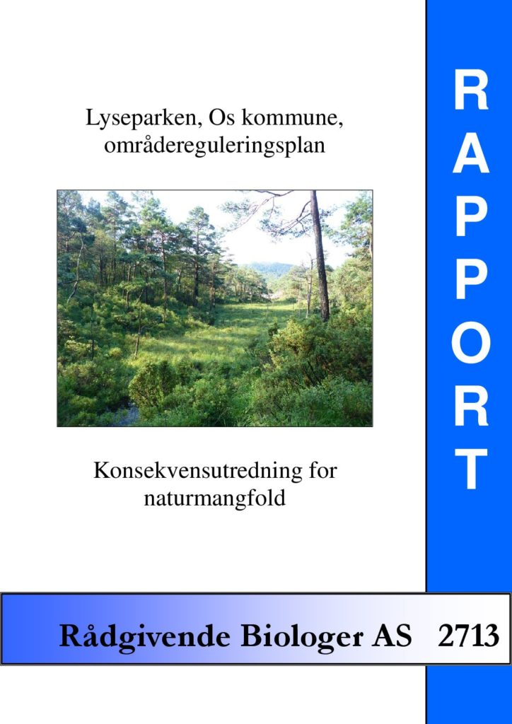 Rapport cover - rapport 2713
