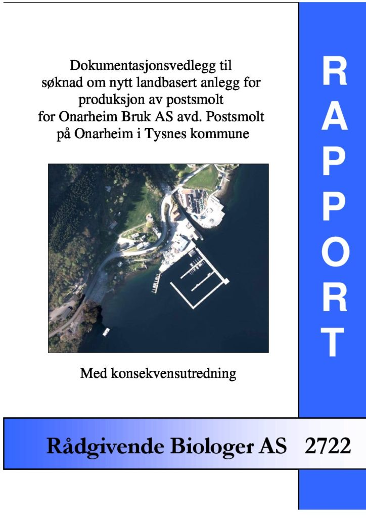 Rapport cover - rapport 2722