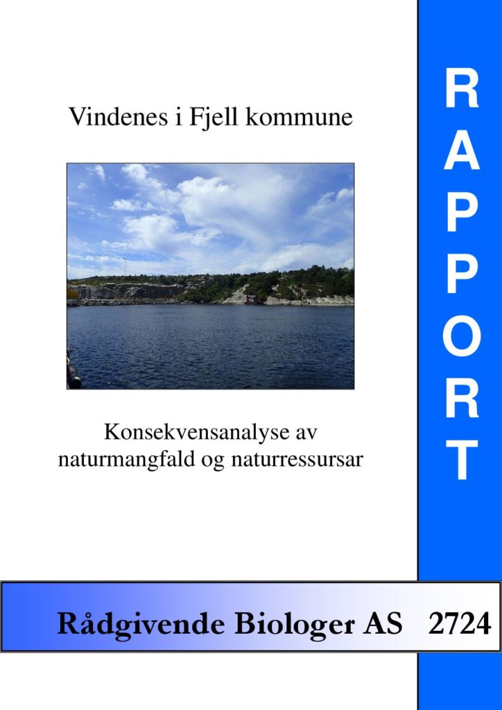 Rapport cover - rapport 2724
