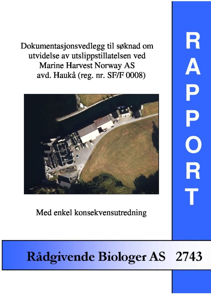 Rapport cover - rapport 2743