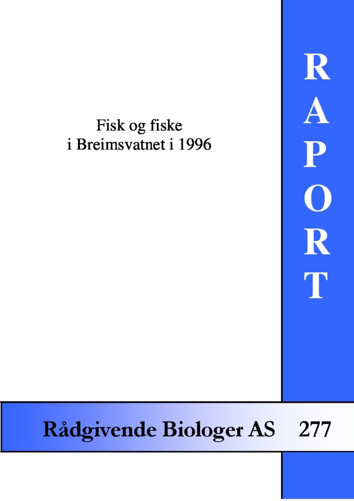 Rapport cover - rapport 277