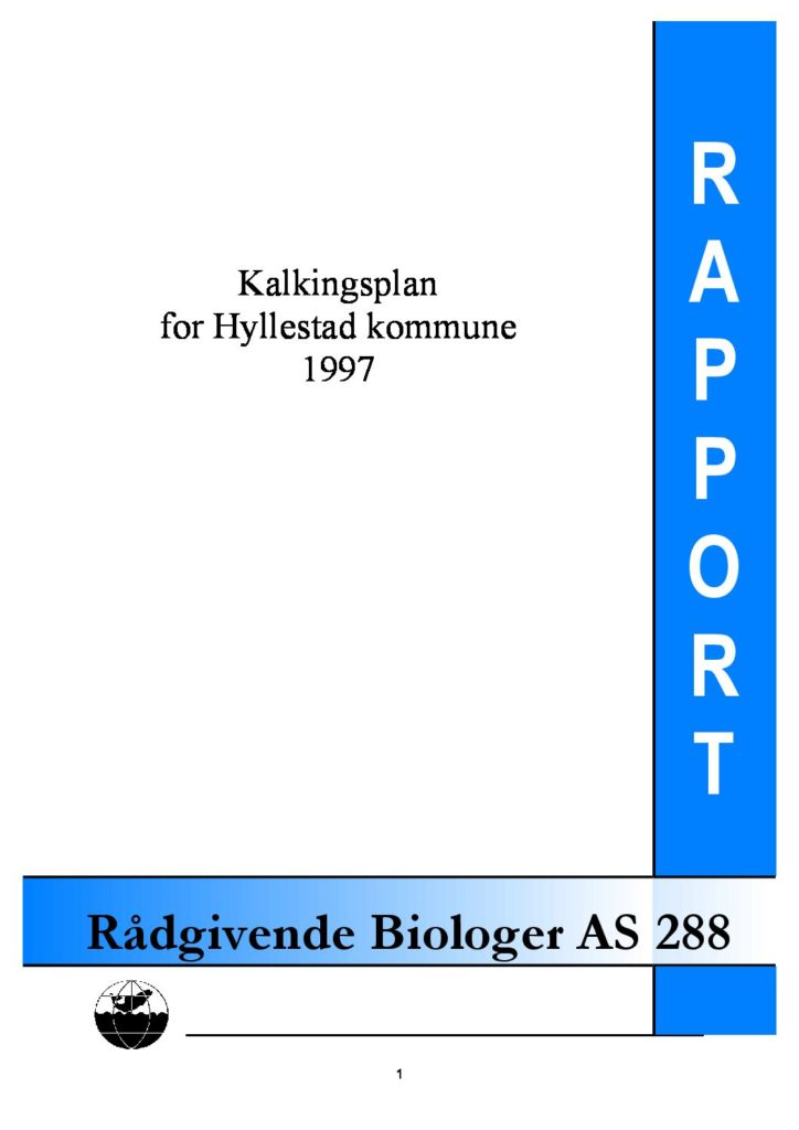 Rapport cover - rapport 288