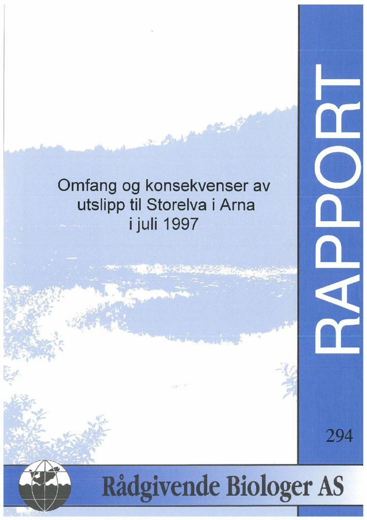 Rapport cover - rapport 294