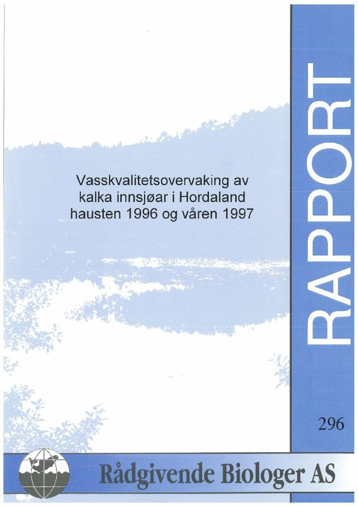 Rapport cover - rapport 296