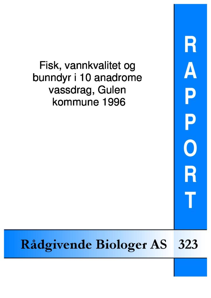 Rapport cover - rapport 323