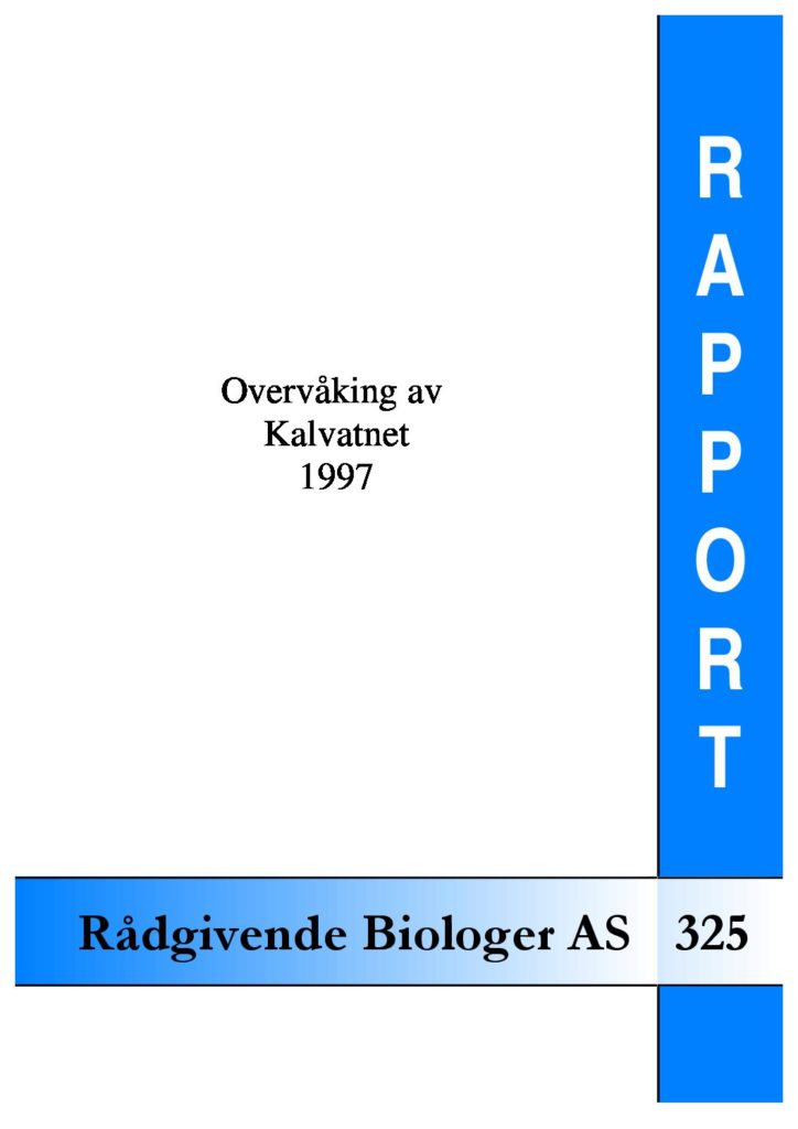 Rapport cover - rapport 325