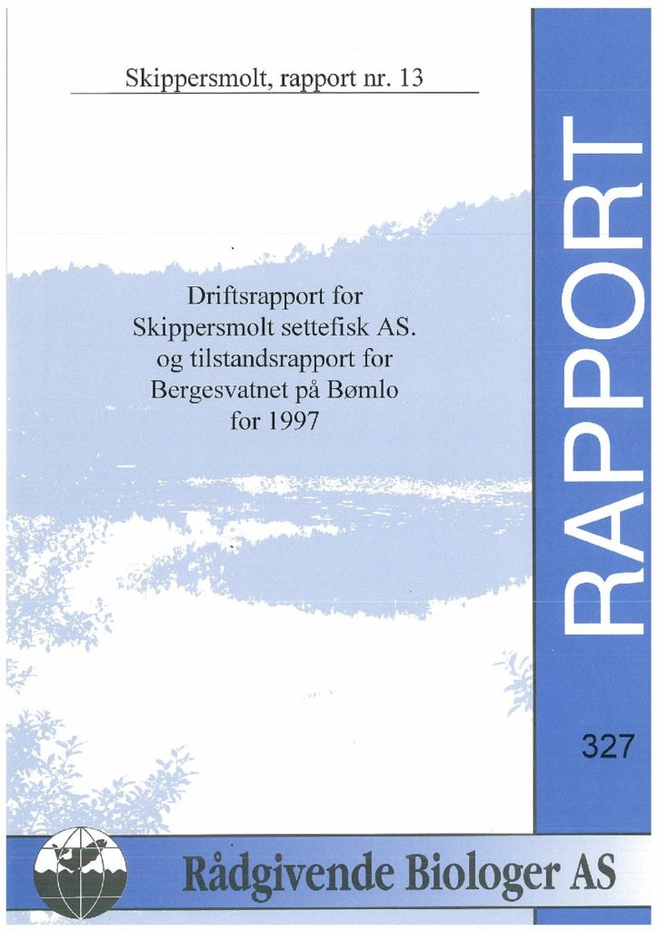 Rapport cover - rapport 327