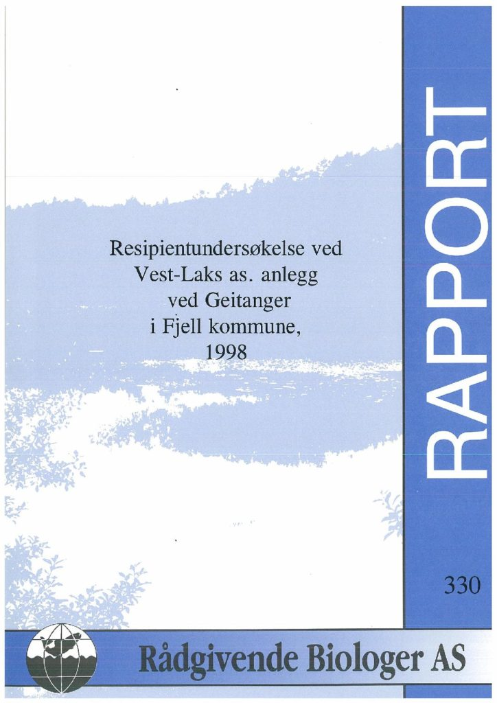 Rapport cover - rapport 330