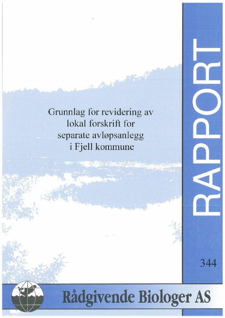 Rapport cover - rapport 344