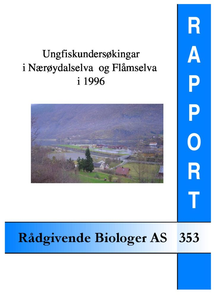 Rapport cover - rapport 353