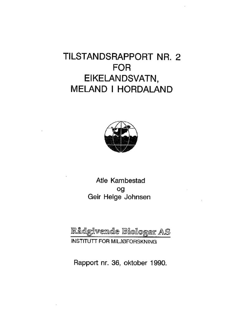 Rapport cover - rapport 36