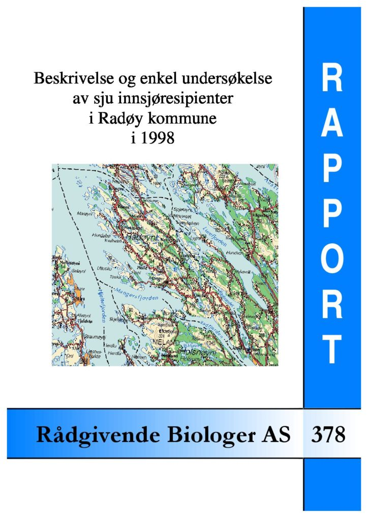 Rapport cover - rapport 378