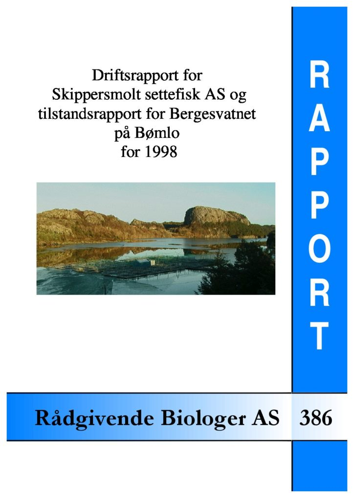 Rapport cover - rapport 386