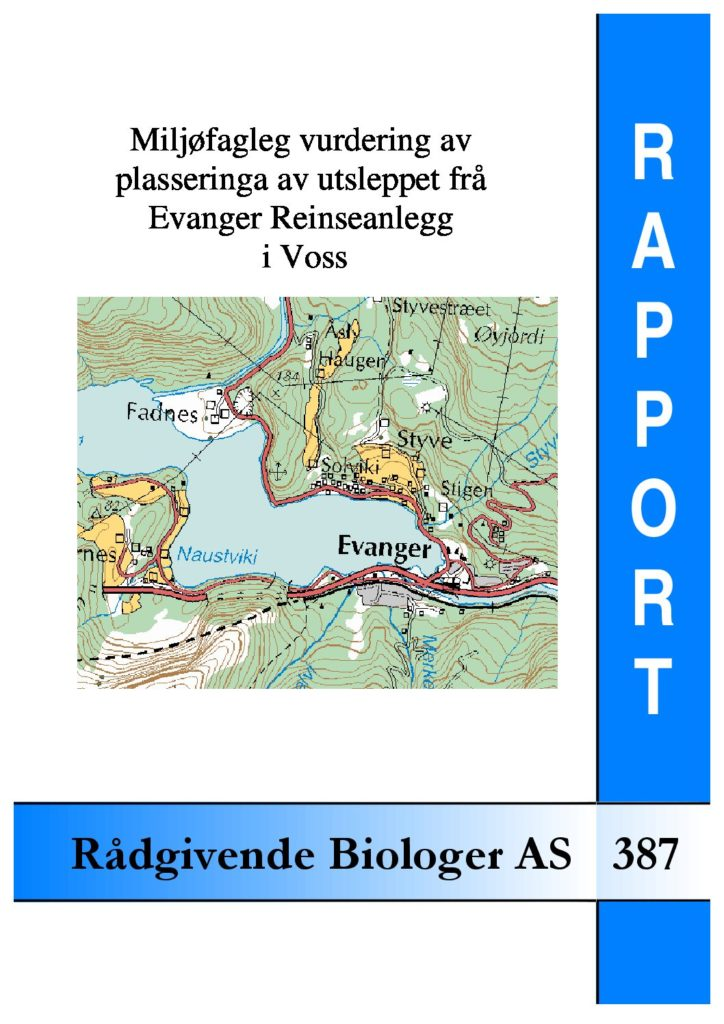 Rapport cover - rapport 387