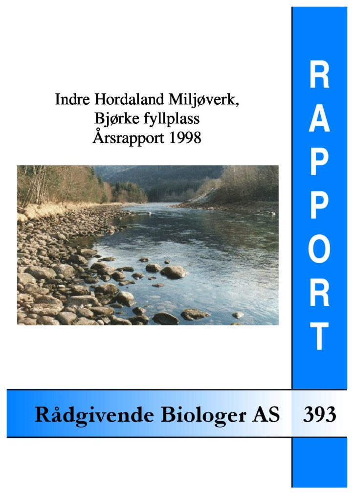 Rapport cover - rapport 393