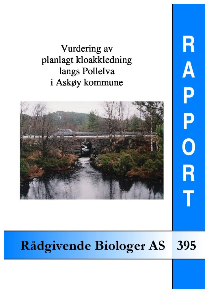 Rapport cover - rapport 395