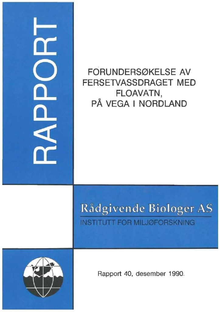 Rapport cover - rapport 40