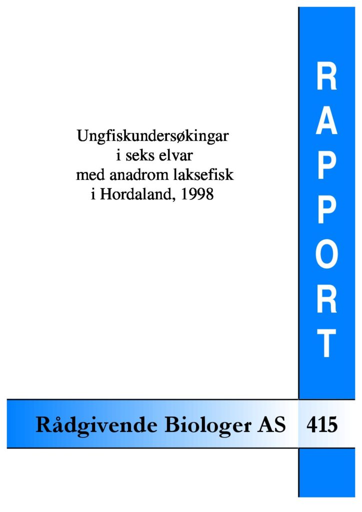 Rapport cover - rapport 415
