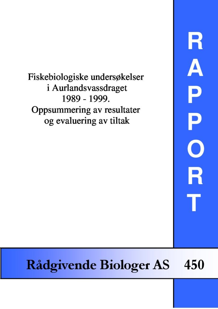 Rapport cover - rapport 450