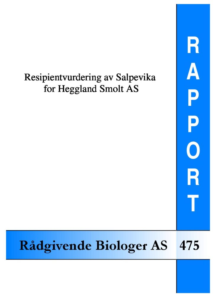 Rapport cover - rapport 475