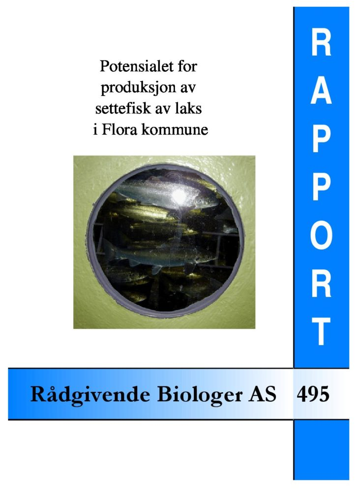 Rapport cover - rapport 495