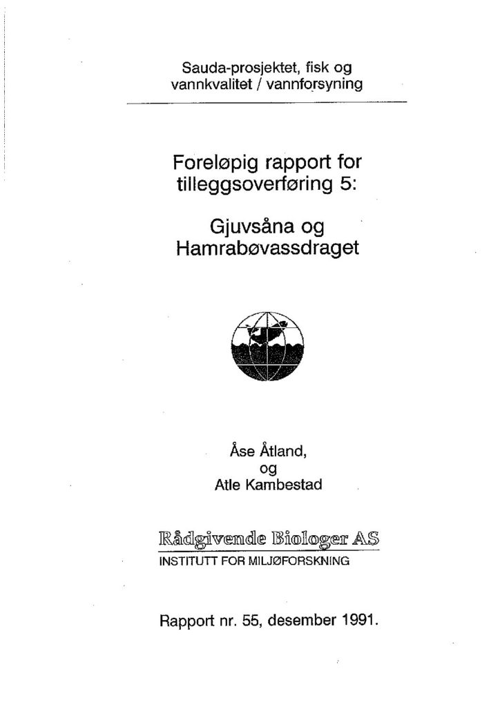 Rapport cover - rapport 55