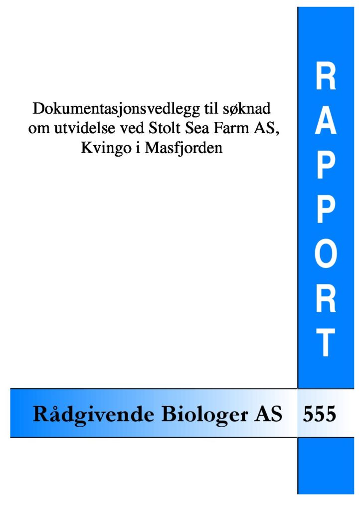 Rapport cover - rapport 555