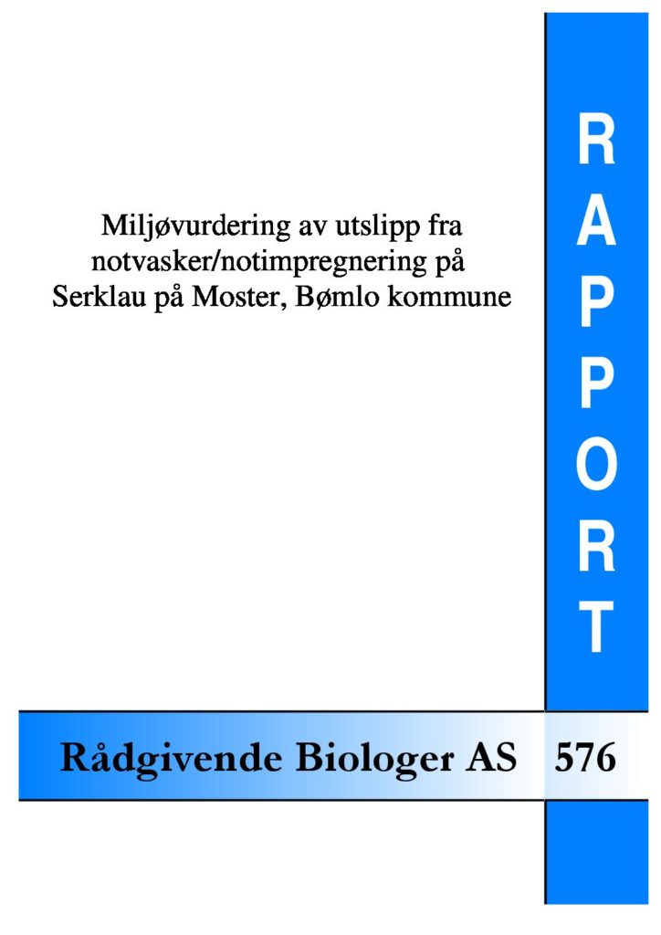 Rapport cover - rapport 576