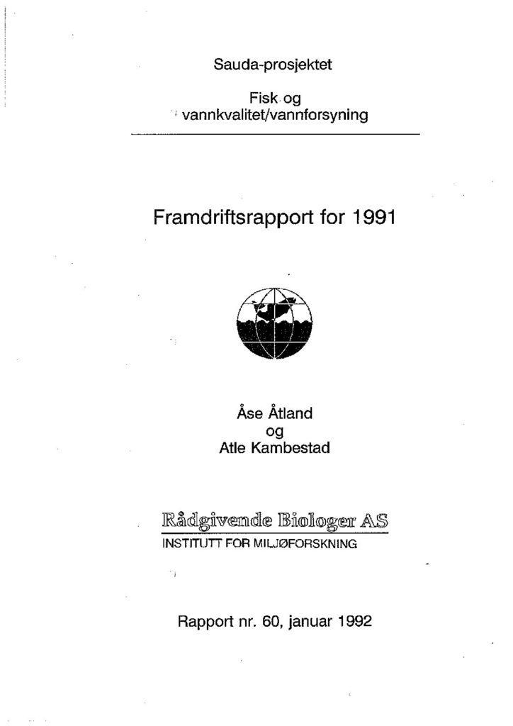 Rapport cover - rapport 60