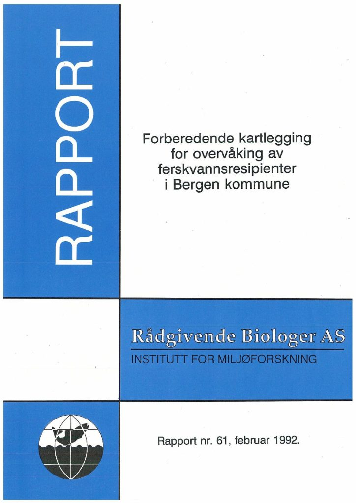 Rapport cover - rapport 61