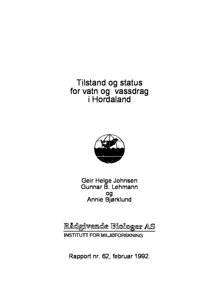 Rapport cover - rapport 62