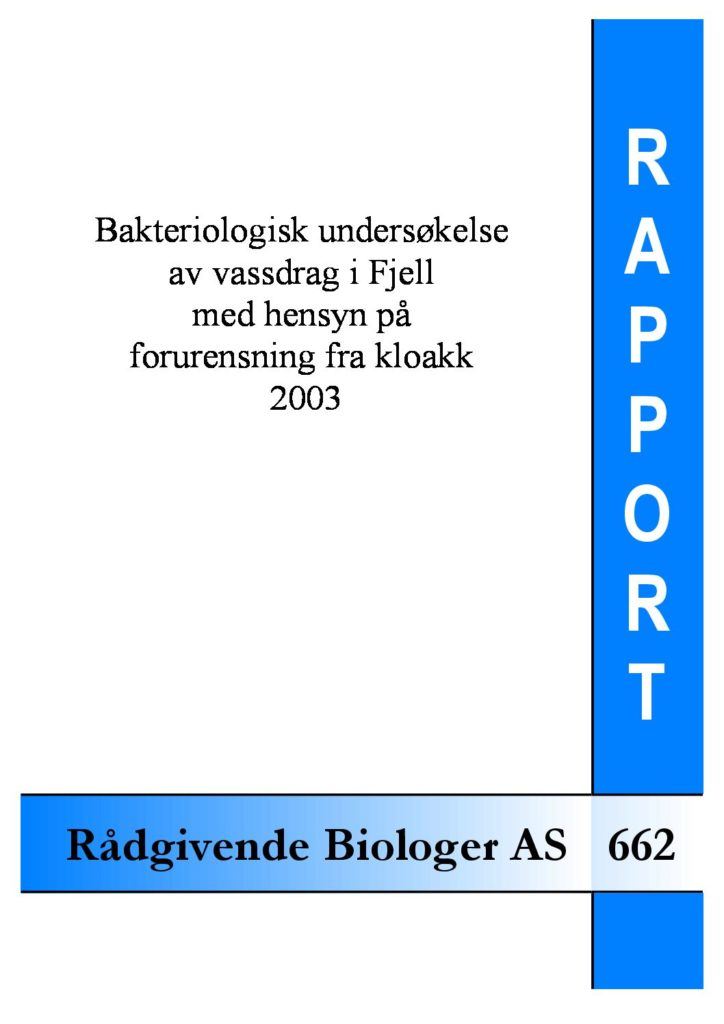 Rapport cover - rapport 662