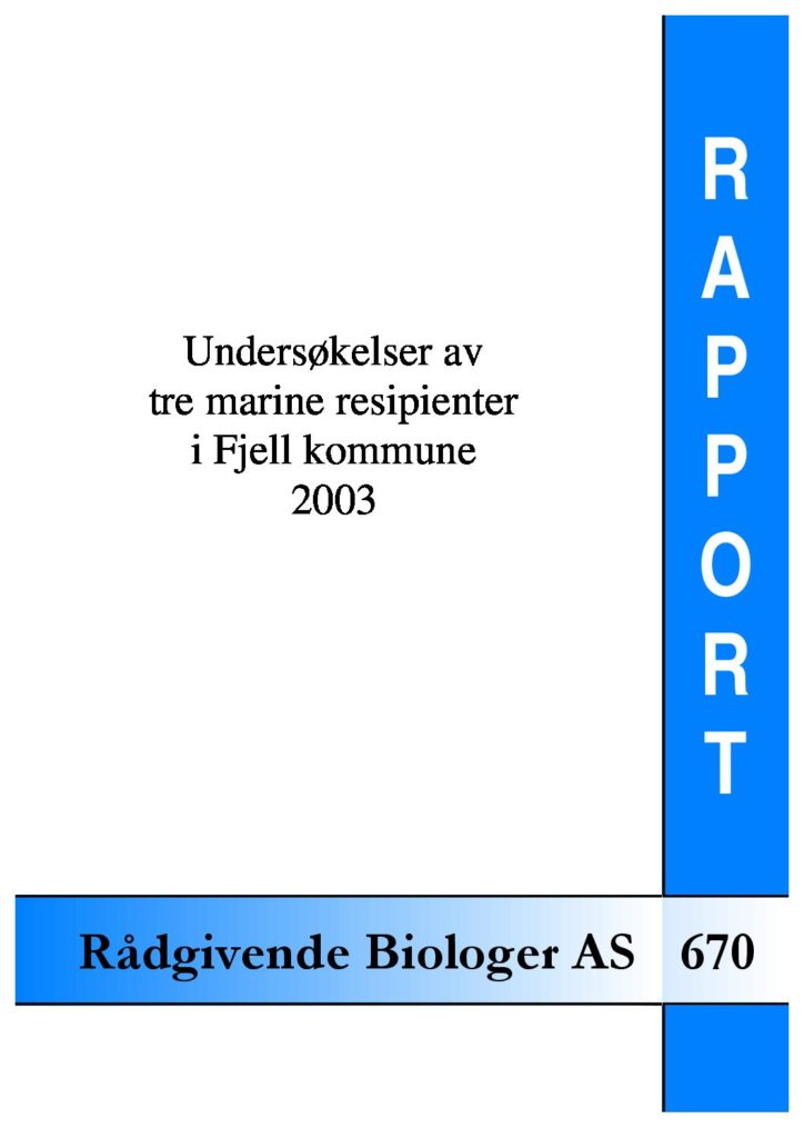 Rapport cover - rapport 670