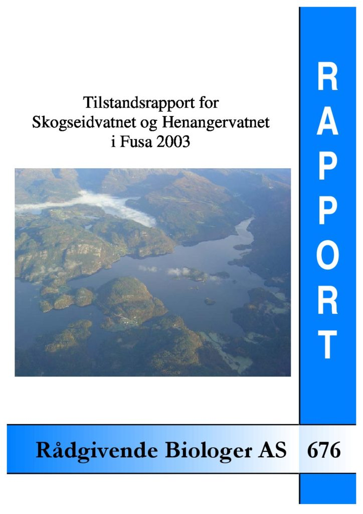 Rapport cover - rapport 676