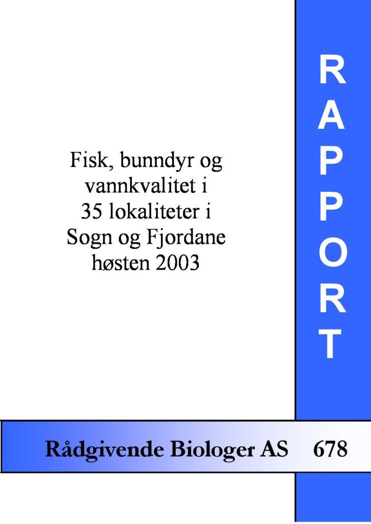 Rapport cover - rapport 678