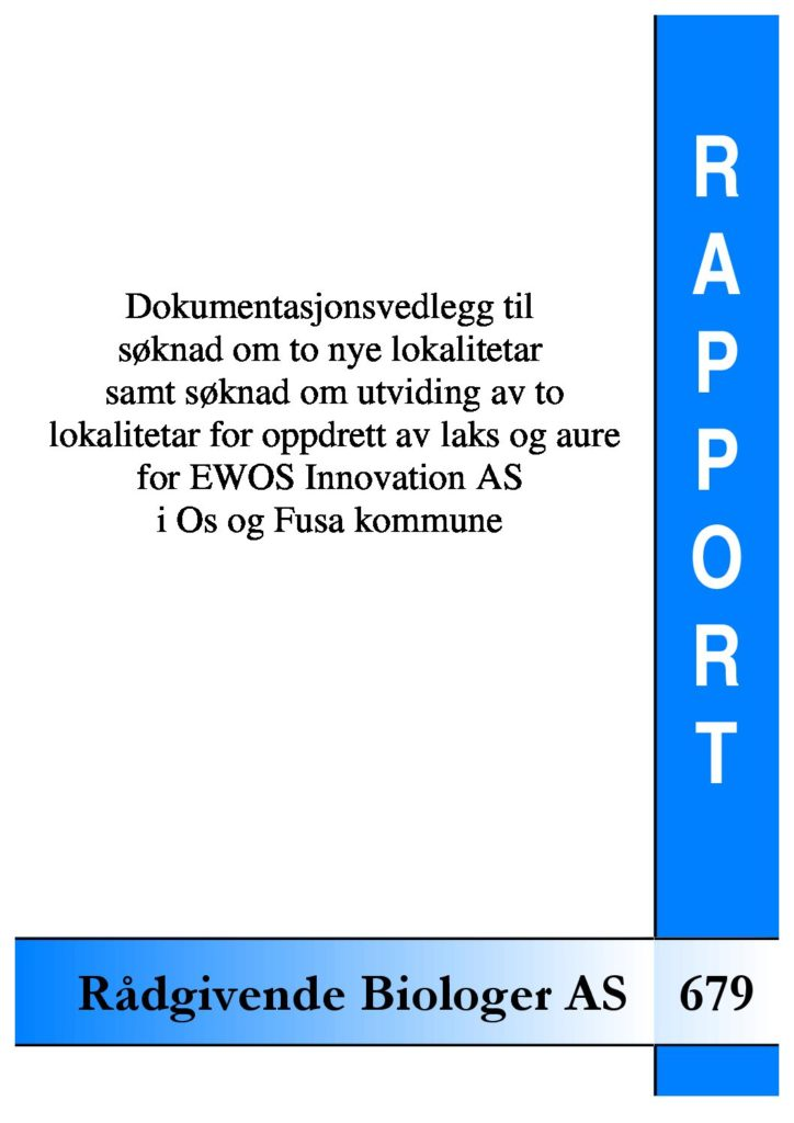 Rapport cover - rapport 679