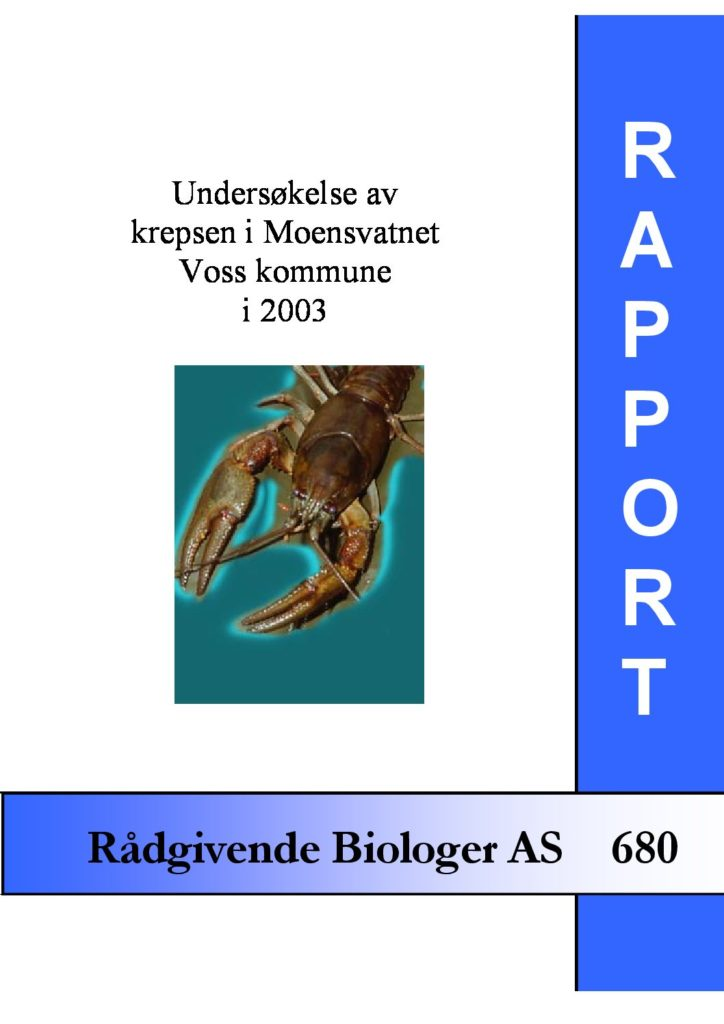 Rapport cover - rapport 680