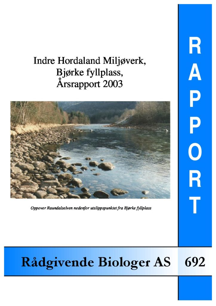 Rapport cover - rapport 692