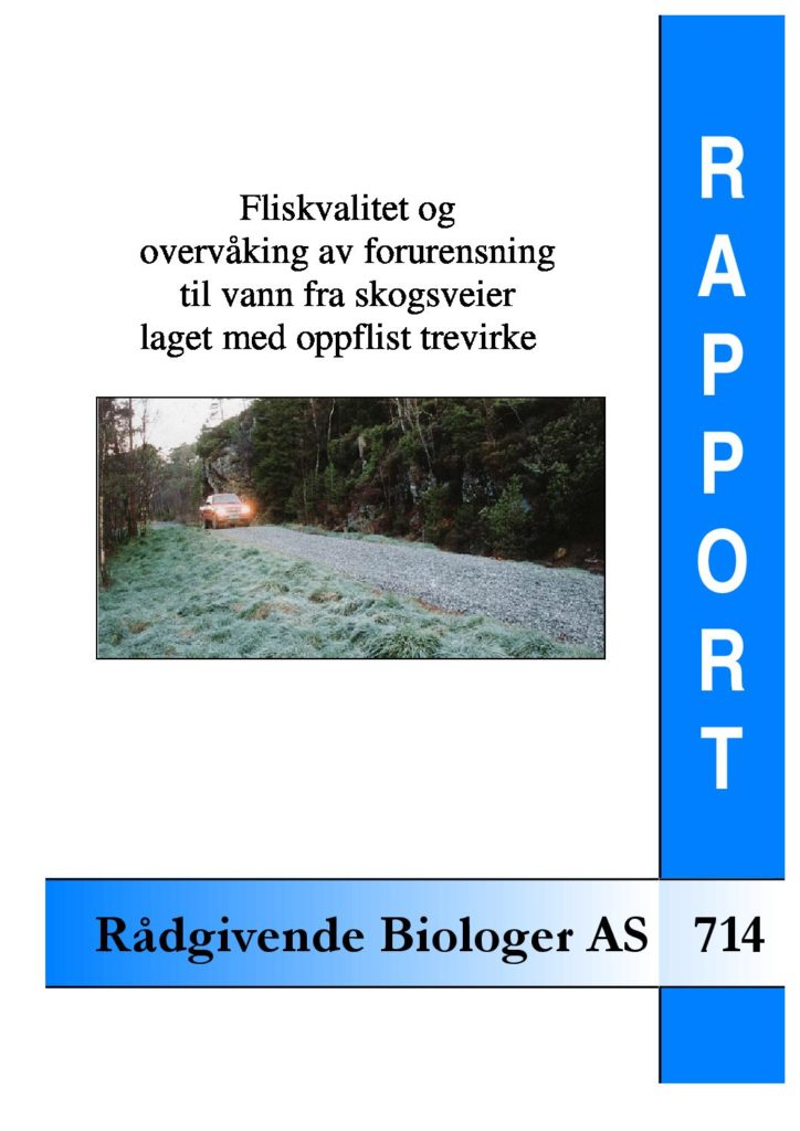 Rapport cover - rapport 714