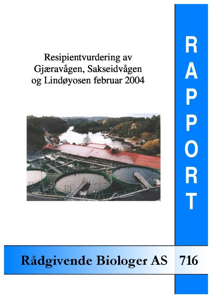 Rapport cover - rapport 716