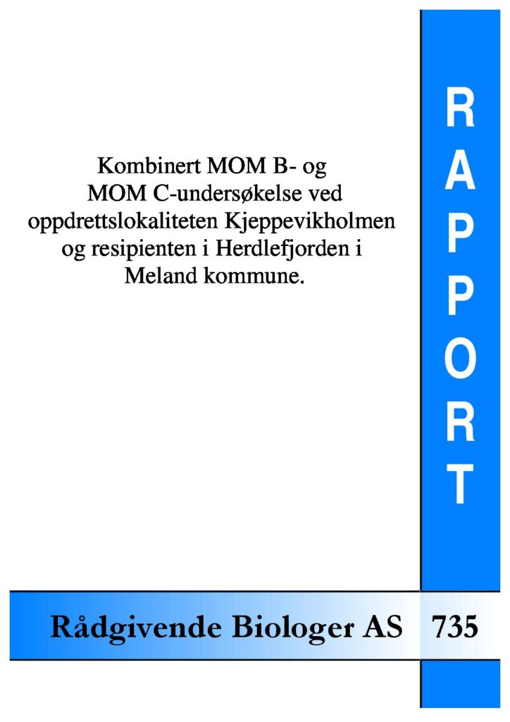 Rapport cover - rapport 735