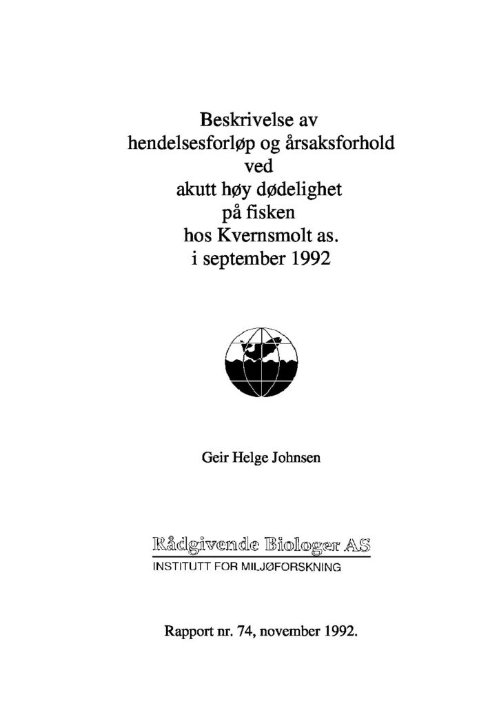 Rapport cover - rapport 74