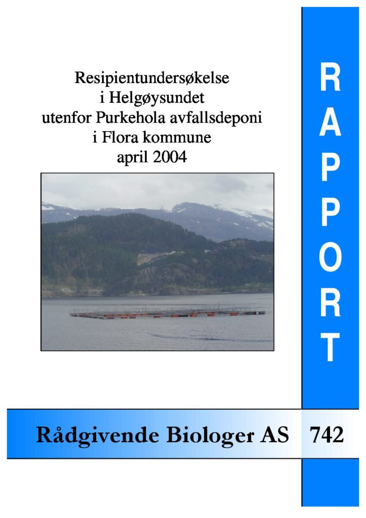 Rapport cover - rapport 742