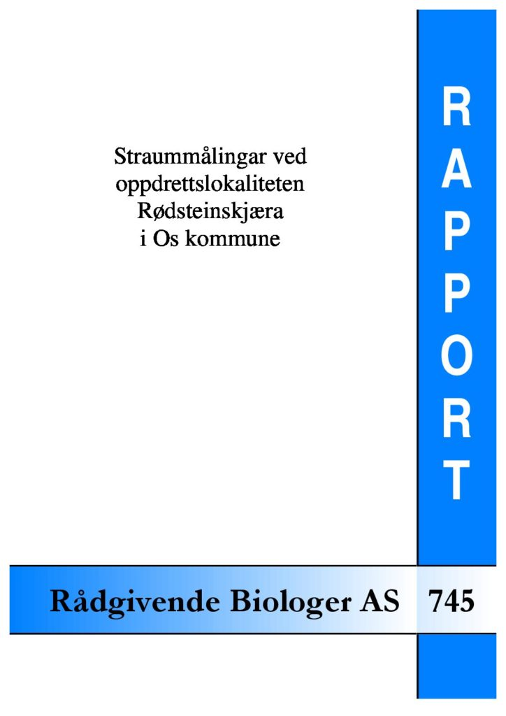 Rapport cover - rapport 745